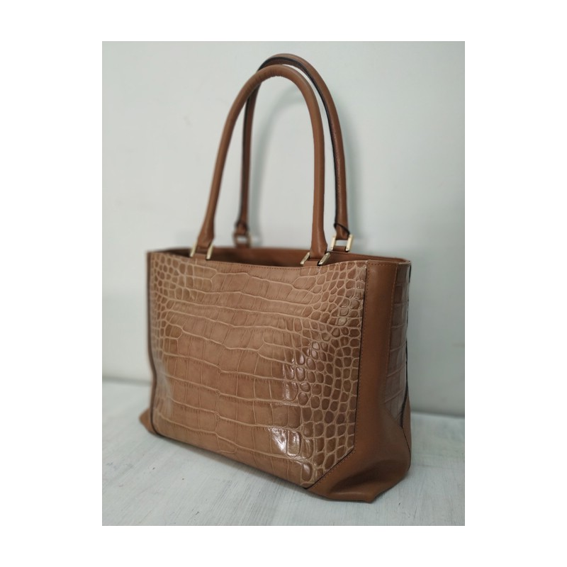 Ecologic crocodile leather bag