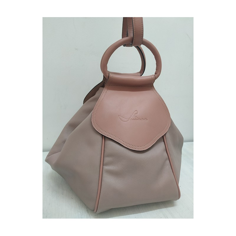 Multipurpose leather handbag