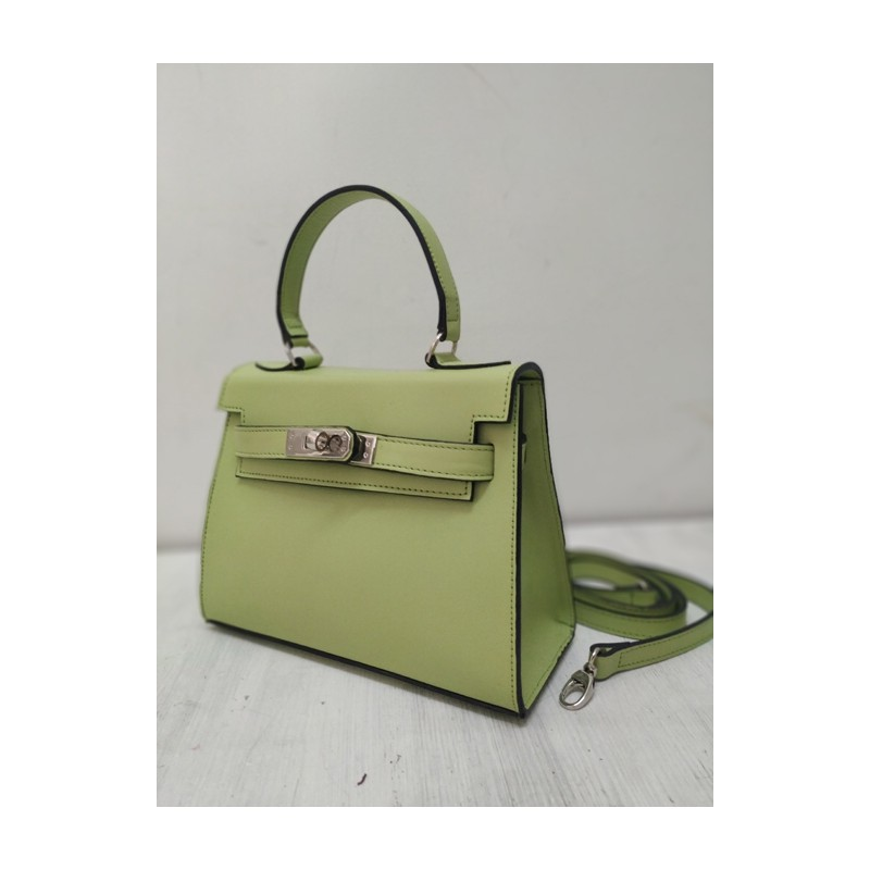 Green apple leather handbag