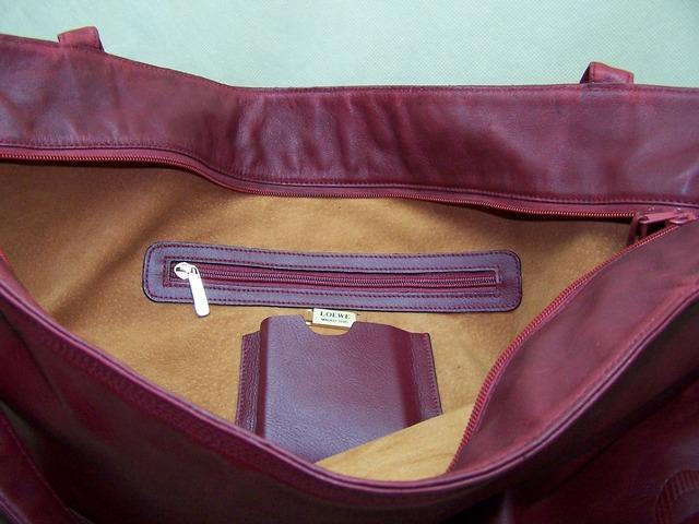Repaired loewe bag