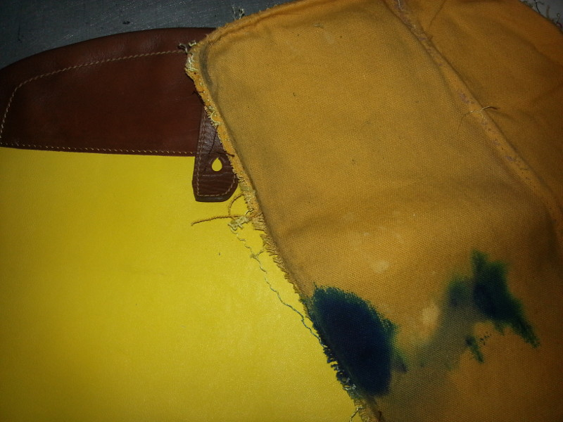 Restoring leather ink stained handbag