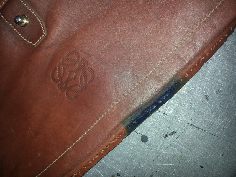 Restoring ink stained bag