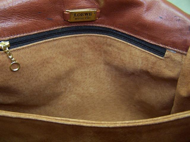 Repaired luxury handbag